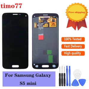 Panneaux tactiles de téléphone portable d'origine pour Samsung Galaxy S5 Mini G800 G800F G800H écran LCD écran Test de remplacement de remplacement strictement libre DHL