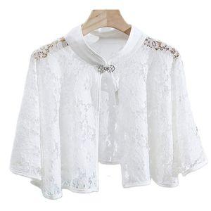 Wraps & Jackets Ivory Black Lace Bolero Women Bridal Wedding Cape Wrap Shawl Cloak Shrugs Accessories
