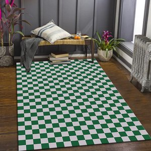Carpets Checkerboard Carpet Green And White Plaid Ins Wind Moroccan Bedroom Living Room Bedside Mat Teenager Red Modern Geometry Printed