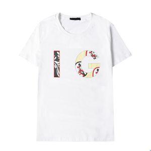 2022 Mens T-shirt morbide stampe traspiranti Lettera Uomo e donna Magliette Bianco nero manica corta Top Cool T-shirt