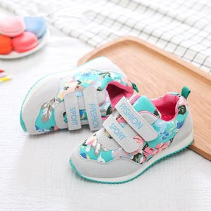 Sneakers Kids Shoes For Girls Fashion Children Casual Floral Cute Toddler Breathable Baby EU 26-36