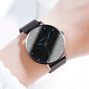 Relogio Feminino Simple Ladies Watch Stainless Steel Strap Color Hands Fashion Quartz Wristwatches Female Clock Watches Women