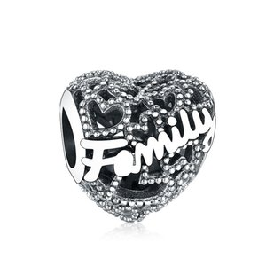 Fit Original Pandora Charm Bracelet Silver 925 Charms Family Heart Charm Beads for Making Women Berloque 925 Silver