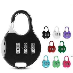 Yenilik Öğeleri Renkli Mini Asma Kilit Sırt Çantası Bavul Kırtasiye için Şifre Kilidi Öğrenci Çocuk Seyahat Güvenlik DWD5804