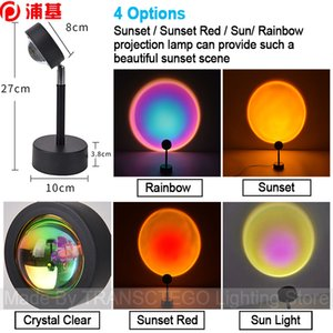 LED Night Sunset Projection Lamp LED Night Lights Sunset Lamp Bedroom Decor USB Rainbow Projector Atmosphere for Home Bar Dropshipping