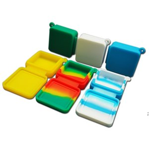 Nonstick Wax Containers Smoking Accessories 9ml Block Shape Silicone Container Food Grade Jars Dab Tool Storage Jar Oil Holder BWB5826