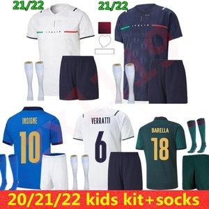 2021 2022 Italia Home Soccer Jersey Men Kids Chiesa Kits 21 22 Italia Maglie da Calcio Verratti Jorginho Romagnoli Immobile Football Shirts Conjuntos