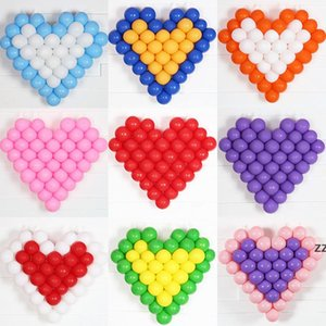 Party Supplies Standard Colors Round Latex Balloon Birthday Wedding Decoration Heart Gridding 5 Inch Circle Balloons Matte Colorful HWD9845