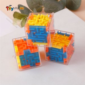 3D Maze Magic Blocks Transparent Six-sided Puzzle Game Cubos Toys for Children Educational FY4749