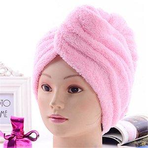 6 farbe komfortable weiche farbe spa bad cap magic schnell trocknendes haar mikrofaser handtuch praktische praktische haushaltsartikel