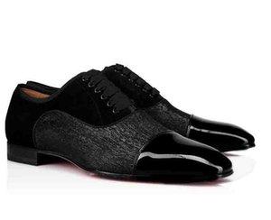 Top Men Wedding Party Dress Men Shoes Red Bottom Alpha Male P Strass Flat Mens Business Flat Dress Shoes Cousin Charles Flat Top Daviol Fla