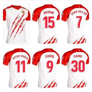 2021 Kiraz AFC Futbol Formaları Tay Seti Lerma Danjuma Futbol forması Solanke Kral L.Cook Brooks Kırmızı Siyah Çizgili Gömlek 20/21