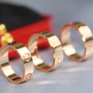 5mm 316L titânio anel de aço prata amor zircon homens e mulheres rosa anéis de ouro jóias para os amantes casal casamento presente