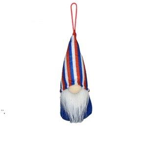 4 Temmuz parti GNOME Amerikan Bağımsızlık Günü Asılı Süsler ABD Yurtsever El Yapımı Peluş Yüzsüz Cüceler Süslemeleri OWE5374