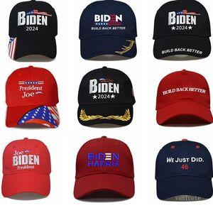 DHL Gemi Joe Biden Caps Oy Joe Biden 2024 Seçim Biden Kap Erkek Kadın Kamyon Şapkalar Moda Ayarlanabilir Beyzbol Şapkası