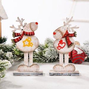 Christmas Decorations Wooden Assembly Christmas Elk Reindeer Home Desktop Ornaments w-01165