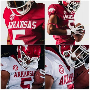 NCAA College Jerseys Arkansas SEC 78 Dalton Wagner 15 Braden Bratcher 4 Malik Hornsby 1 KJ Jefferson Custom Football Stitched