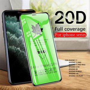 20D Full Glue Tempered Glass Screen Protector Ultra Clear HD Film For Iphone 6 7 8 X XR 11 12 Pro Max Samsung Huawei