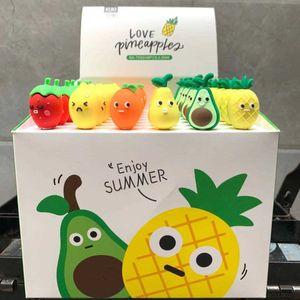 Stift Keqi KK-7093 Silikon Avocado Strawberry Ananas Obst Platte Neutral Nette Ausdruck Cartoon Wasser