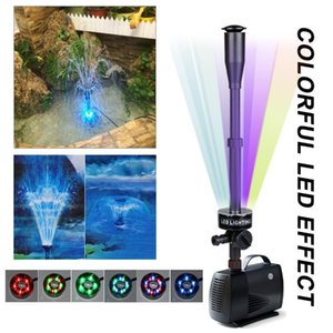 Submersible Aquarium Water Pump With 15 PCS Multi Color Changing LEDs For Hydroponics Garden Pond Fish Tank LED Fountain Air Pumps & Accesso