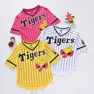 Summer children's printed breathable T shirt fashion short sleeve cotton cartoon round neck baseball casual wear