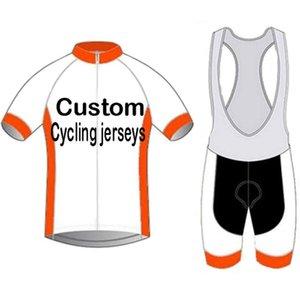 النسخة الفريق مخصص الدراجات الملابس العلامة التجارية المصنعة ciclismo جودة عالية الترياتلون جيرسي قصيرة الأكمام عدة الأكمام سباق مجموعات
