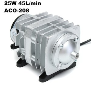 Air Compressor Fish 220V 45W 70L min Pumps Electromagnetic Tank Oxygen Hydroponics 6 Way Aerator Pump