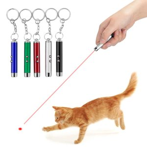 2-In-1 Cat Pet Toy Red Laser Light LED Pointer Pen White Flashlight Torch Interactive Training Laser Pointer Pen For Cat Dogs