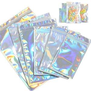 أكياس التخزين 20 قطعة / المجموعة المجسم الليزر التعبئة والتغليف شفافة رمش كيس الحقيبة مربع التجميل للبيع بالجملة