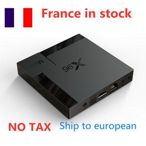 Ship from france to european 10pcs lot X96 Mate 4GB ram 32GB TV Box Andriod 10 Allwinner H616 Dual-Wifi 2.4G+5G BT smart