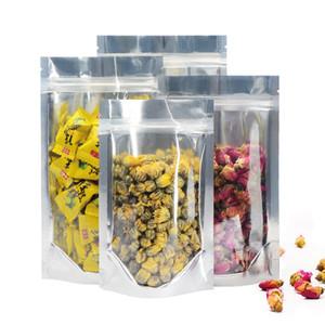 إعادة الاستخدام الألومنيوم احباط البريدي قفل الوقوف أكياس الحقائب الغذائية مع الشق للتخزين والحجم 9 * 15 سم، 11 * 16 سم، 13 * 18 سم