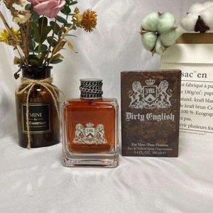 Candle Scented Inglês Sujo 100ml para Homens Perfume Fragrância Vermelho Home Spray Longo Masculino Parfum Incenso Fragrâncias Home