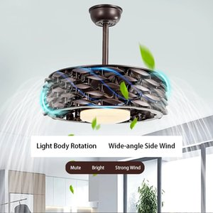 Leafless ceiling fan light invisible Nordic restaurant living room bedroom simple and stylish LED chandelier
