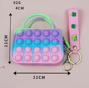 Party Fidget Bubble toys Chain Bag Cute Lady Handbag Purses Kids Boy Girls Novel Cool Design Crossbody Fanny Pack Push Sensory RRD11258