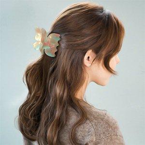 Butterfly Hair Clip Super Fairy Geometric Acrylic Acetate Hairpins Girls Women Hair Claws Banana Clip Hair Accessories Barrettes 361 Q2