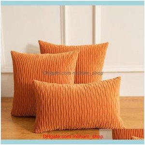 Case Bedding Supplies Textiles Home & Gardenmodern Nordic Retro Wave Decoration Pillowcase Luxury Cushion Er Classical Decorative Pillows Fo