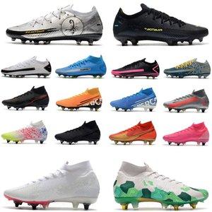 Homens Shoe 2021 Chegada Botas de Futebol dos Homens Phantom GT Malha Impermeável Esportes AG Sapatilhas Spikes Sapatos de Futebol Elite Pro Treinamento Correndo Mulheres