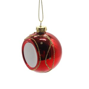Sublimation Blanks Christmas Ball 6CM Decoration Sublimation Transfer Printing Heat Press DIY Gifts Craft Print WWA293