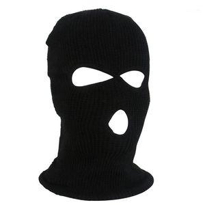 Cycling Caps & Masks OutdoorCycling Acrylic Yarn Full Face Mask Bicycle Ski Bike Ride Winter Cap Balaclava Hood Army Tactical 3 Hole1
