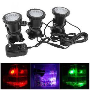 3 ADET 12 V 36 LED Spot Lambası 7 Renkler Değiştirme Su Geçirmez Açık Işık Bahçe Çeşmesi Balık Tankı Havuz Pond Floodlights Için
