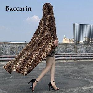 Women's Trench Coats Women Maxi Long Coat Leopard Hoodies Button Cardigan Streetwear 2021 Autumn Winter Festival Clothes Outwear