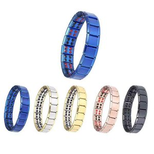 2021 Magnetic Therapy health function Stainless Steel Bracelet Energy Bracelets 7 colors