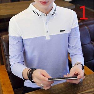 티셔츠 홍콩 스타일 스트라이프 느슨한 야생 반팔 티셔츠 여름