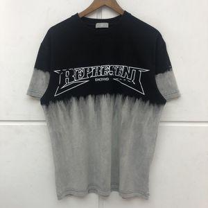 T-рубашка Tie-Dye Мужчины Женщины Высокое Качество Футболка Vintage Сделайте старого цвета Лоскутное топливо Tee