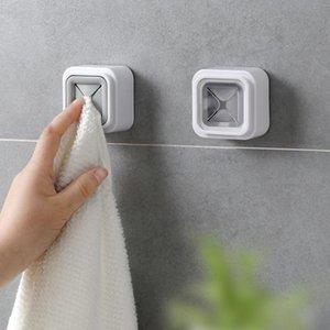 Towel Racks Creative Punching-Free Plug Holder Household Organizer Rack Shelf Storage Washing Cloth Clip