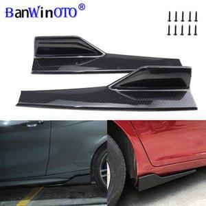 2 pçs / conjunto carro largo corpo saias laterais splitters kit modificado sideskirts balancim anti-riscos asas de asas de ala 45cm universal