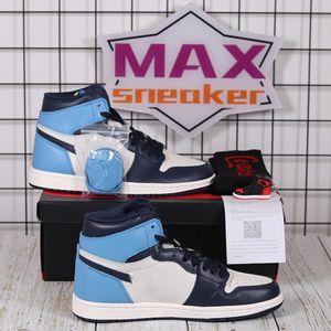 Basketbol Ayakkabıları Jumpman 1S OG Yüksek Bükümlü Şanslı Yeşil Bio Hack Yansıtıcı Beyaz Kraliyet Chicago Toe Obsidiyen UNC Patent Koşu Sneakers