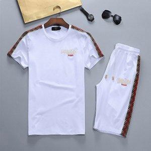 2021 трексуиты мода мужской костюм 21ss молодежный топ + шорты стиль мужские футболки брюки повседневные мужчины два частя
