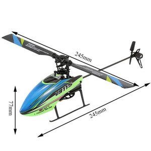WLtoys V911S 2.4G 4CH 6-Aixs Gyroscope Flybarless RC Helicopter RTF Model Toys With 3.7V 250MAh Lipo Battery Drones