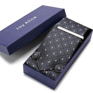 Belle marque à la main 65 couleurs luxe 100% soik cravate mouchoir de poche de poche de poche de bouton de manchette set clip ccroustie boîte mâle f nœud cravates